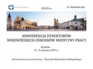 Konferencja dyrektorów WOMP, Kraków 8-9.06.2017